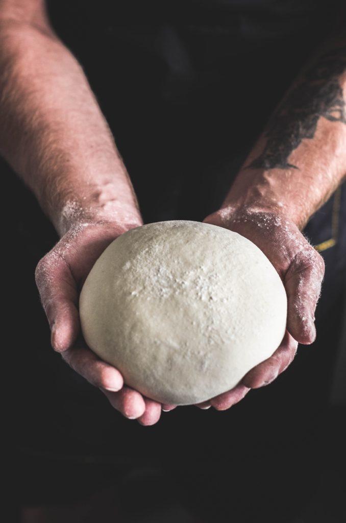 pizza dough.